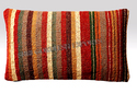 Brown And Yellow Printed Jute Pillow Covers