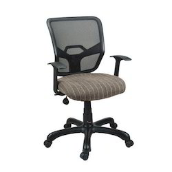 Leather Mesh revolving Office Chair, For Office,College, Black