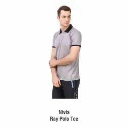 Dotted Micro Polyester Men Nivia Ray Polo T Shirt