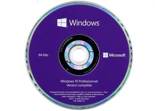 Microsoft Windows 10 Pro DVD Genuine Seal Packed Box 64 Bit Version Life Time, Operating