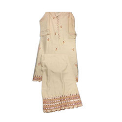 Designer Cotton Casual Wear Palazzo Suit