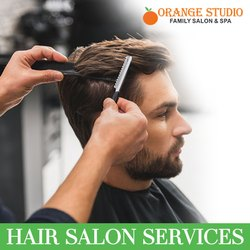 Male Hair Salon Services-Orange Studio