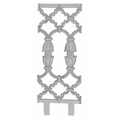 Silver Cast Iron Railing Pillar