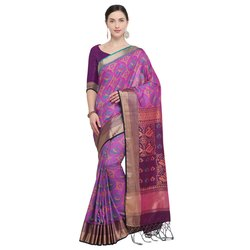 Beautiful Ikkat Silk Saree