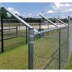 Chain Link Fencing With Round Pipe