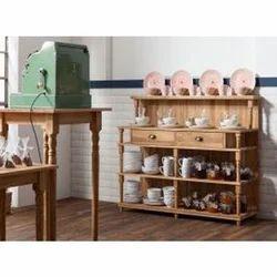 Wooden Open Crockery Cabinet