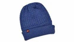 Men Blue Wool Cap