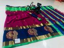 Aura Aangi Asha Stylish Party Wear Cotton Silk Saree