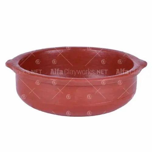 Tangerine Red Clay Pot, for Clay Biryani Pots