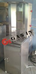 2 Burner Shawarma Machine With Cabinet