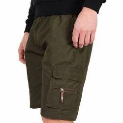 Casual Plain Mens Cotton Short