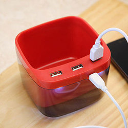 Red Plastic 3 Stand Holder Mobile Charger