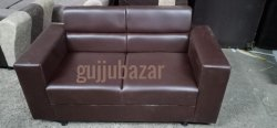 gujjubazar Brown 2 Seater Office Sofa, Size: 4.5ft