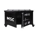 Industrial Metal Cabinet on Wheels, Container Style