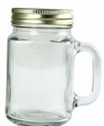450 Ml Glass Mason Jar, Grade: Food
