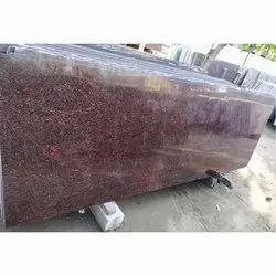 Polished Ruby Red Granite Slab, for Flooring, Thickness: 15-20 Mm
