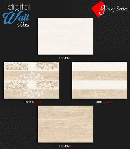 Ceramic 18043 Bathroom Wall Tiles, Thickness: 5-10 mm