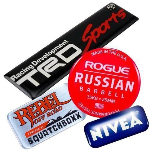 Multicolor Epoxy Resin Dome Labels