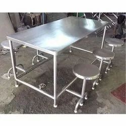Stainless Steel Sanipure Canteen Table, Shape: Rectangular, Seating Capacity: 4 6 8 Seater