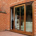 UPVC Brown Sliding Door