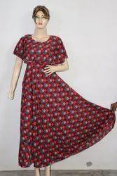American Crepe Checkered Maxi Dress
