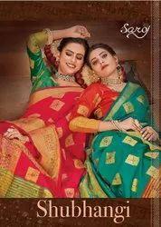 Saroj Shubhangi Silk Saree With Beautifull Jari Border Saree Catalog