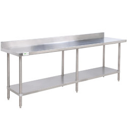A.K. Metals Stainless Steel SS Work Table, For Hotel, Restaurant, Number of Shelves: 2 Shelves