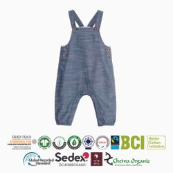 Organic Cotton Recycle Cotton Kids Dungree