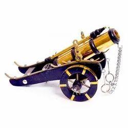 Golden,Blue Antique Cannon Handicraft for Decoration