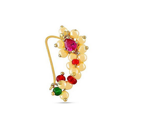 Velvetcase Traditional Nath 15k 625yellow Gold Nose Ring Rs 2244