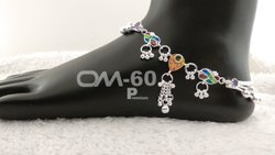 Chain Fancy Silver Anklet