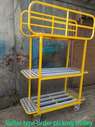 Gruyi Roller Type Order Picking Trolley, For Warehouse, Model Name/Number: GR-RT-001
