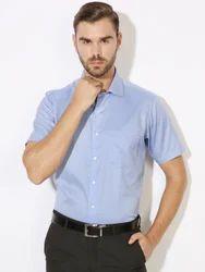 Mens Sky Blue Formal Shirts