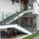 Balcony SS Stairs Glass Railing