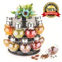 Multipurpose Revolving Plastic Spice Rack Set (16pcs)
