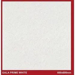 Matte Grey Gala Prime White Floor Tiles, 600 mm x 600 mm