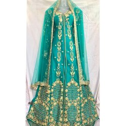 Ladies Sea Green Embroidered Bridal Suit
