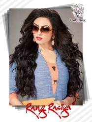 Formal Wear Regular Fancy Heavy Khadi Cotton Stitch Kurti