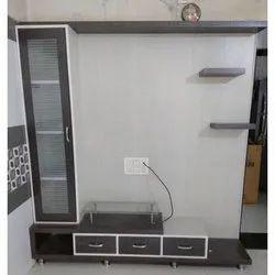 Window Harmony Free Unit Rectangle Wooden TV Unit, Max TV Screen Size: Upto39 Inch