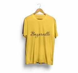 Girls High Neck Plain Cotton 180 GSM Bio-Wash T Shirts