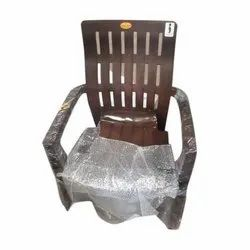 With Hand Rest (Arms) Designer Brown Plastic Chair