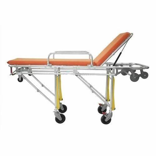 Folding Emergency Stretcher, Stainless Steel, Size: 6.5 X 2 Feet, | ID: 18748329673