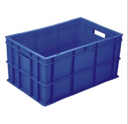 Blue Rectangular Plastic Crates, Capacity: 20 Kg
