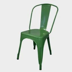 Sunny Overseas Polished SORC-116 Green Iron Chair, For Restaurant