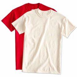 Plain Medium And Large Half Sleeve Cotton T Shirt