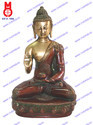 Buddha Sitting Asthmangal With Blessing Hand Statue