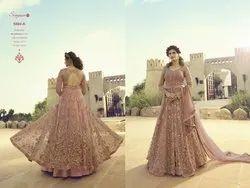 Wedding Wear Floor Length Heavy Embroidered Worked  Anarkali Salwar Suit