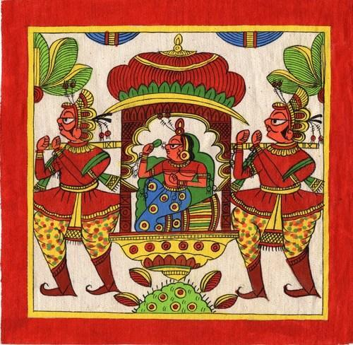 Phad Handmade Painting, पैड पेंटिंग, फड़ पेंटिंग, फड़ चित्रकारी - Shrinath  Arts, Bhilwara | ID: 14190231733