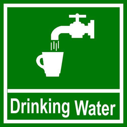 Square Aluminum Drinking Water Sign Board, Rs 650 /square ...