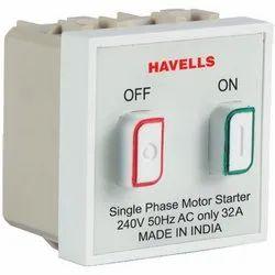 Havells Plastic Single Phase Motor Starter, Voltage: 240 V